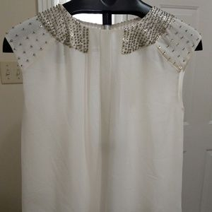 Ann Taylor Short Sleeve Blouse w/ embellishments!